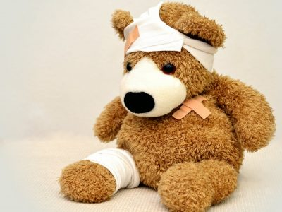 teddy bear with migraine