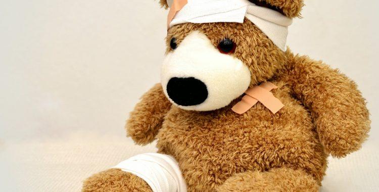 teddy bear with migraine