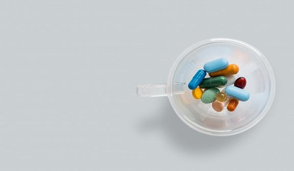 Medicine in a bowl
